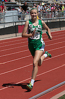 New Haven sophomore Emma Engelbrecht runs a leg of the Class 1 4x400-meter relay at the Missouri Class 1 and 2 State Track and Field Championships in Jefferson City, Saturday, May 21. New Haven won the race in 4:11.57.