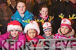 Pictured at the Santa parade in Killarney on Friday from left Aiobhe Coffey, Leah Lynch, Jessica O'Connell, Oriana Healy, Killian Healy and Emilija Berzina