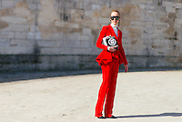 Elina Halimi at Paris Fashion Week (Photo by Hunter Abrams/Guest of a Guest)