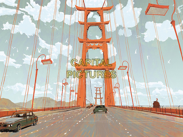 San Francisco Bridge<br /> in Big Hero 6 (2014)<br /> *Filmstill - Editorial Use Only*<br /> CAP/NFS<br /> Image supplied by Capital Pictures