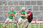 Stephen Egan Crotta goes past Seamus O hEalaí Kenmare/Kilgarvan during their semi final in Fitzgerald Stadium on Saturday