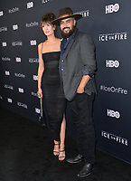 "LOS ANGELES, USA. June 06, 2019: Jonah Johnson & Shelby Bullard at the premiere for ""Ice on Fire"" at the LA County Museum of Art.<br /> Picture: Paul Smith/Featureflash"