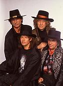 SLADE - L-R: Don Powell, Jim Lea, Noddy Holder, Dave Hill - 1991.  Photo credit: Ray Palmer Archive/IconicPix