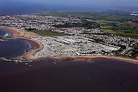 Aerial view of Trecco Bay Caravan Park near Porthcawl
