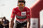 Race leader Greg Van Avermaet (BEL) BMC Racing Team arrives at sign on before the start of Stage 5 of the 2018 Tour of Oman running 152km from Sam'il to Jabal Al Akhdhar. 17th February 2018.<br /> Picture: ASO/Muscat Municipality/Kare Dehlie Thorstad | Cyclefile<br /> <br /> <br /> All photos usage must carry mandatory copyright credit (&copy; Cyclefile | ASO/Muscat Municipality/Kare Dehlie Thorstad)