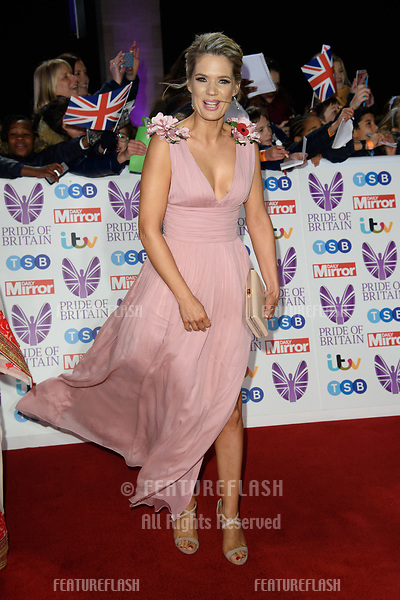 LONDON, UK. October 29, 2018: Charlotte Hawkins at the Pride of Britain Awards 2018 at the Grosvenor House Hotel, London.<br /> Picture: Steve Vas/Featureflash