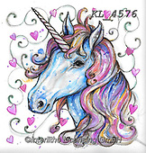 Interlitho-Theresa, REALISTIC ANIMALS, REALISTISCHE TIERE, ANIMALES REALISTICOS, paintings+++++,unicorn,KL4576,#a#, EVERYDAY
