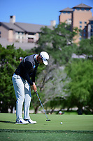 Seamus Power (IRL) watches his putt on 10 during round 4 of the Valero Texas Open, AT&amp;T Oaks Course, TPC San Antonio, San Antonio, Texas, USA. 4/23/2017.<br /> Picture: Golffile | Ken Murray<br /> <br /> <br /> All photo usage must carry mandatory copyright credit (&copy; Golffile | Ken Murray)