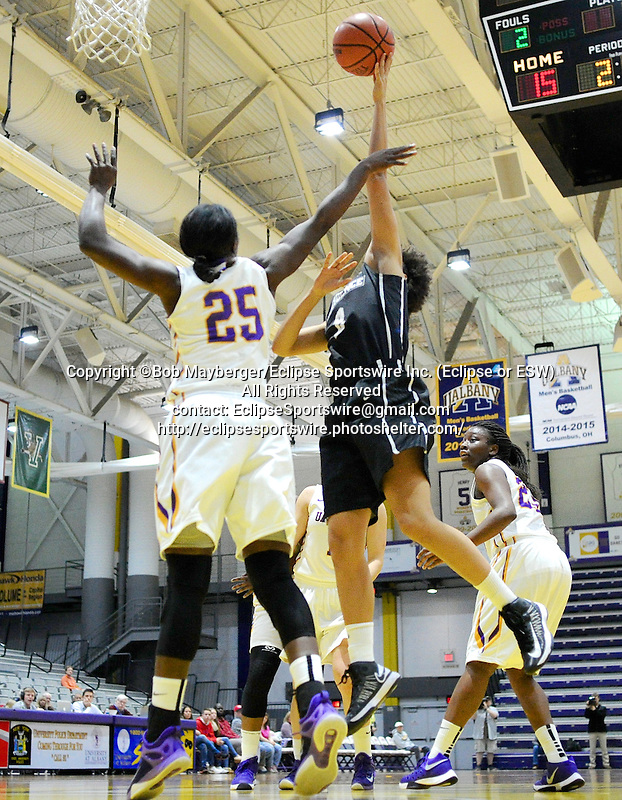 Albany defeats Providence 71-58 on December 01, 2015 at SEFCU Arena in Albany, New York.  (Bob Mayberger/Eclipse Sportswire)