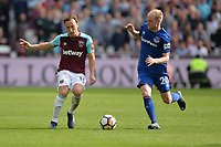 Mark Noble of West Ham and Davy Klaassen Of Everton during West Ham United vs Everton, Premier League Football at The London Stadium on 13th May 2018