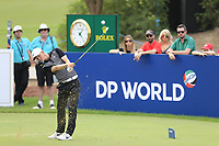 Marcus Kinhult (SWE) on the 13th tee during the 3rd round of the DP World Tour Championship, Jumeirah Golf Estates, Dubai, United Arab Emirates. 17/11/2018<br /> Picture: Golffile | Fran Caffrey<br /> <br /> <br /> All photo usage must carry mandatory copyright credit (&copy; Golffile | Fran Caffrey)