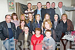 John Patton Austin  Stacks, Tralee who celebrated his 80th birthday in Cassidy's Restaurant, Tralee on Saturday eveningh. Front l-r: John and Ann Patton and James mathewas. Back l-r: David O'Connor, Nicole patton, Catrina mathews, Lorraine McElligott, Debra,Emma,Rachel and Geraldine Patton, Mary Prendergast, Carmel Patton, Jonathan mathews, ThomasPatton, Gerard McElligott, John P Patton(jnr) and John Patton.