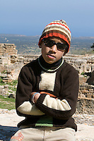 Cyrene, Shahat, Libya - Libyan Boy.  13 years old.