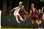 27 September 2012: UNC's Kealia Ohai (left) and Florida State's Isabella Schmid (GER) (11). The University of North Carolina Tar Heels played the Florida State University Seminoles at Fetzer Field in Chapel Hill, North Carolina in a 2012 NCAA Division I Women's Soccer game. Florida State won the game 1-0.