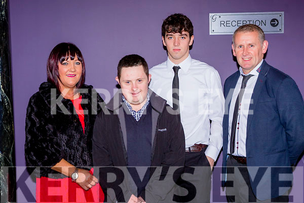 Tony Brosnan Dr Crokes who was nominated for an East Kerry award at the Gleneagle Hotel on friday night with his family l-r: Sheila, Stephen, Tony and Tommy Brosnan