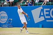 June 14th 2017, Nottingham, England; ATP Aegon Nottingham Open Tennis Tournament day 5;  Lloyd Glasspool of Great Britain gets off to a good start in his second round match in centre court against Marc Polmans of Australia
