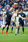 "Real Madrid's Luka Modric and Malaga CF's Juan Pablo ""Juanpi"" Añor during La Liga match between Real Madrid and Malaga CF at Santiago Bernabeu Stadium in Madrid, Spain. January 21, 2017. (ALTERPHOTOS/BorjaB.Hojas)"