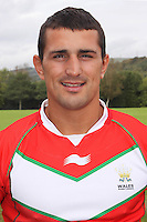 PICTURE BY IAN LOVELL/WRL...Rugby League - Wales Rugby League Headshots 2011 - 21/10/11...Wales Ben Flower.