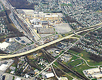 Aerial view of General Motors Plant on Boxwood Road in  Newport, Delaware