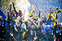 Team of France celebrate the victory during the World Cup Final match between France and Croatia at Luzhniki Stadium on July 15, 2018 in Moscow, Russia. (Photo by Anthony Dibon/Icon Sport)
