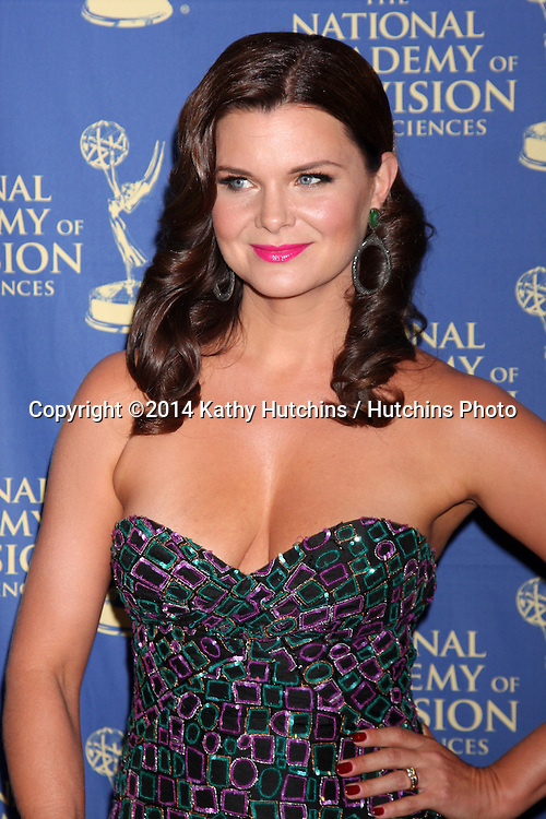 LOS ANGELES - JUN 20:  Heather Tom at the 2014 Creative Daytime Emmy Awards at the The Westin Bonaventure on June 20, 2014 in Los Angeles, CA