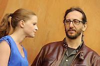 "Roma, 6 Aprile 2012.Photocall del film ""Diaz"" .Il regista Daniele Vicari e l'attrice Jennifer Ulrich."
