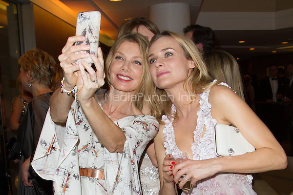 Ursula Karven and Diane Kruger attending the People magazine launch party held at Hotel Waldorf Astoria, Berlin, Germany, 17.03.2015. <br /> Photo by Christopher Tamcke/insight media /MediaPunch ***FOR USA ONLY***