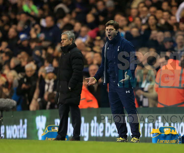 Tottenham's Mauricio Pochettino celebrates his sides fifth goal<br /> <br /> Barclays Premier League - Tottenham Hotspur vs Chelsea - White Hart Lane  - England - 1st January 2015 - Picture David Klein/Sportimage