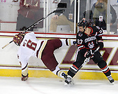Patrick Wey (BC - 6), Chris Donovan (NU - 23) - The Boston College Eagles defeated the Northeastern University Huskies 5-1 on Saturday, November 7, 2009, at Conte Forum in Chestnut Hill, Massachusetts.