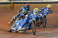 Erik Riss of King's Lynn Stars leads in Heat 1 during Poole Pirates vs King's Lynn Stars, SGB Premiership Shield Speedway at The Stadium on 11th April 2019