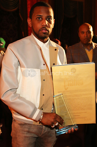 BROOKLYN, NY - MARCH 9, 2017 Fabolous attends his honoring at Borough Hall, March 9, 2017 in Brooklyn, New York. Photo Credit: Walik Goshorn/Mediapunch