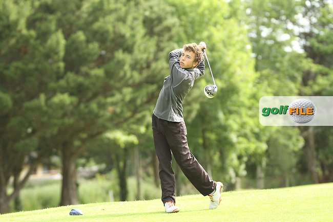 Eamonn O'Driscoll (Killarney) on the 13th tee during the final round of the Munster Boys Open Championship, Mallow Golf Club, Mallow, Co. Cork<br /> Picture: Golffile | Niall O'Shea