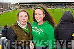 Pictured at the Kerry v Cork Munster Final in Fitzgerald Stadium, Killarney on Saturday evening were l-r: Maria O'Sullivan and Helena Phelan (Castlemaine).