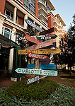 Charlotte NC - Playful sign on the green in upown Charlotte NC