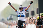 Marta Bastianelli (ITA) Team Virtu Cycling wins the Women Elite 2019 Ronde Van Vlaanderen Dames running 150km from Oudenaarde to Oudenaarde, Belgium. 7th April 2019.<br /> Picture: Arne Mill | Cyclefile<br /> <br /> All photos usage must carry mandatory copyright credit (© Cyclefile | Arne Mill)