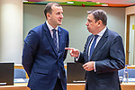 BRUSSELS - BELGIUM - 16 December 2019 -- Agriculture and Fisheries Council meeting - Presidency of Finland. -- Spanish Minister of Agriculture Luis Planas (R) and EU Environment, Oceans and Fisheries Commissioner Virginijus Sinkevicius. -- PHOTO: Juha ROININEN / EUP-IMAGES