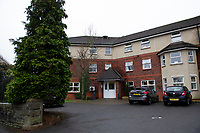 Pictured: A General View of St Martin's Court, Morriston, Swansea, Wales, UK. Thursday 24 January 2019<br /> Re: An 86 year old female pensioner who broke her leg had to wait almost two days for an ambulance to take her to hospital.<br /> Staff at St Martin's Court Care Home in Swansea called 999 when Mary Duffy, who suffers with dementia fell from a chair on Sunday evening which caused her limb to break in two places.<br /> They were advised by 999 staff not to give the woman any food or drink before the paramedics arrive.<br /> It was not until 5.30pm on Tuesday that an ambulance arrived to take her to hospital.<br /> Her son Tim said: &quot;When I called the second time they told staff to get her ready, but time was going on, and she was in agony, so they gave her painkillers.<br /> &quot;I am fuming about the wait she had to endure, although that is not all directed at the paramedics or hospital hospital staff or staff at the care home.&quot;<br /> &quot;All of them were brilliant, and the service they provided was excellent but it is the system at fault.&quot; he added.