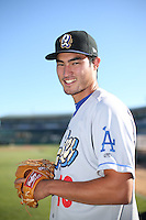 Mitchell White (13) of the Rancho Cucamonga Quakes poses for a photo before a game against the Lancaster JetHawks at The Hanger on September 1, 2016 in Lancaster, California. Rancho Cucamonga defeated Lancaster, 6-3. (Larry Goren/Four Seam Images)