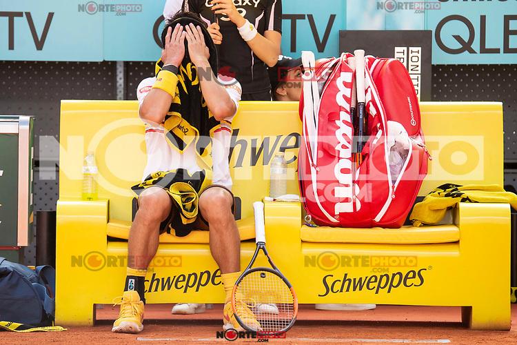 Japanese Kei Nishikori during Mutua Madrid Open 2018 at Caja Magica in Madrid, Spain. May 07, 2018. (ALTERPHOTOS/Borja B.Hojas) /NortePhoto.com