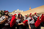 Israel, Nazareth, the Greek Orthodox Annunciation Day procession at the Church of the Annunciation, the Church of St. Gabriel