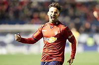 Ruben García (midfield; CA Osasuna) celebrates the goal  during the Spanish football of La Liga 123, match between CA Osasuna and  Granada CF at the Sadar stadium, in Pamplona (Navarra), Spain, on Sunday, February 3, 2019.