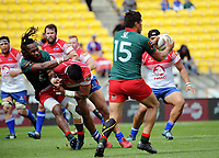 Action from the Heartland Championship rugby match between Horowhenua Kapiti and Wairarapa Bush at Westpac Stadium in Wellington, New Zealand on Sunday, 1 October 2017. Photo: Dave Lintott / lintottphoto.co.nz