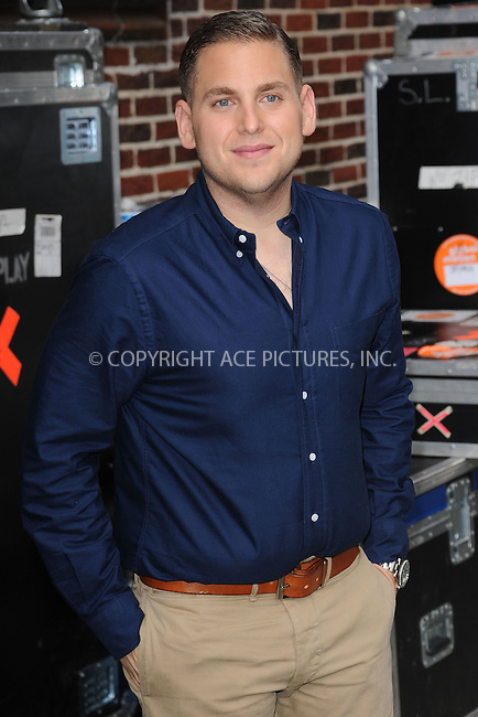 WWW.ACEPIXS.COM . . . . . .September 20, 2011...New York City...Jonah Hill tapes  the Late Show with David Letterman on September 20, 2011 in New York City....Please byline: KRISTIN CALLAHAN - ACEPIXS.COM.. . . . . . ..Ace Pictures, Inc: ..tel: (212) 243 8787 or (646) 769 0430..e-mail: info@acepixs.com..web: http://www.acepixs.com .