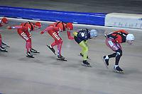 SCHAATSEN: HEERENVEEN: Thialf, 26-06-2012, Zomerijs, Team LIGA, Janine Smit, Margot Boer, Daniel Greig (AUS), Lucas Duffield (CAN), ©foto Martin de Jong