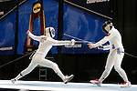25 MAR 2016:  Penn State's Jessie Gottesman-Radanovich battles against Princeton's Charlene Liu in her win in the finals of the women's epee at the Division I Women's Fencing Championship  held at the Gosman Sports and Convention Center in Waltham, MA.   Damian Strohmeyer/NCAA Photos