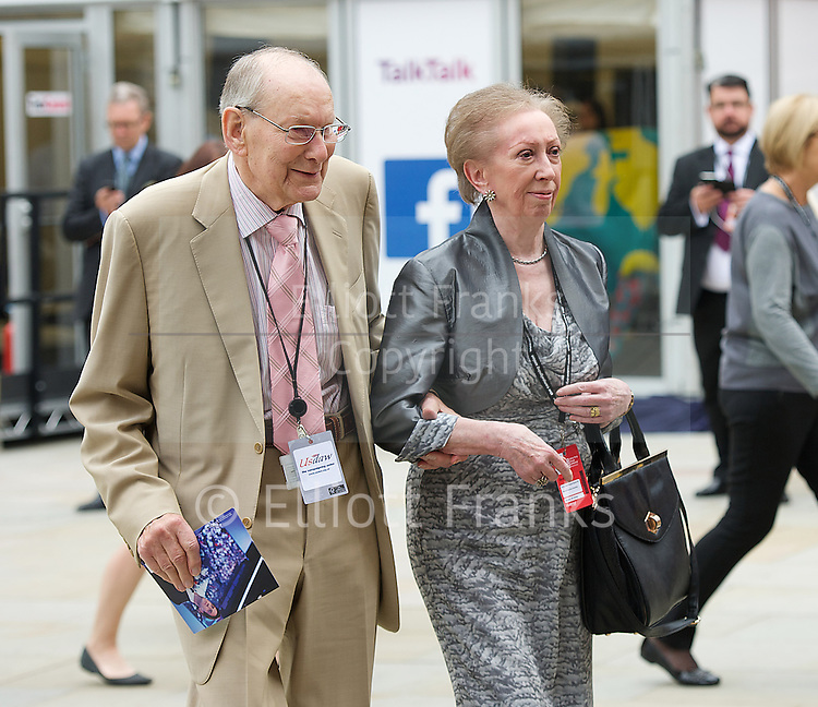 Labour Party Conference <br /> at Manchester Central, Manchester, Great Britain <br /> 23rd September 2014 <br /> <br /> Margaret Beckett and husband <br /> <br /> <br /> Photograph by Elliott Franks <br /> Image licensed to Elliott Franks Photography Services