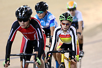 Cody Harvey (R) of Southland competes in the U15 Boys 2k Scratch race at the Age Group Track National Championships, Avantidrome, Home of Cycling, Cambridge, New Zealand, Friday, March 17, 2017. Mandatory Credit: © Dianne Manson/CyclingNZ  **NO ARCHIVING**