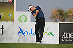 Phillip Price (WAL) tees off on the par3 9th tee during Day 1 Thursday of the Open de Andalucia de Golf at Parador Golf Club Malaga 24th March 2011. (Photo Eoin Clarke/Golffile 2011)