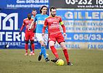 2018-03-04 / Voetbal / Seizoen 2017-2018 / Kapellen - Tempo Overijse / Jonathan Coquelle met Dirk Mathyssen (r. Kapellen)<br /> <br /> ,Foto: Mpics.be