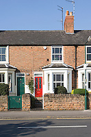 The facade of Hannah Pemberton's Victorian terraced house in Nottingham which has been extensively restored and completely refurbished